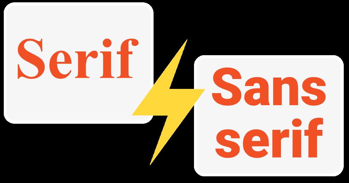 Serif và sans-serif khác gì nhau? Những hiểu lầm thường thấy về chúng.