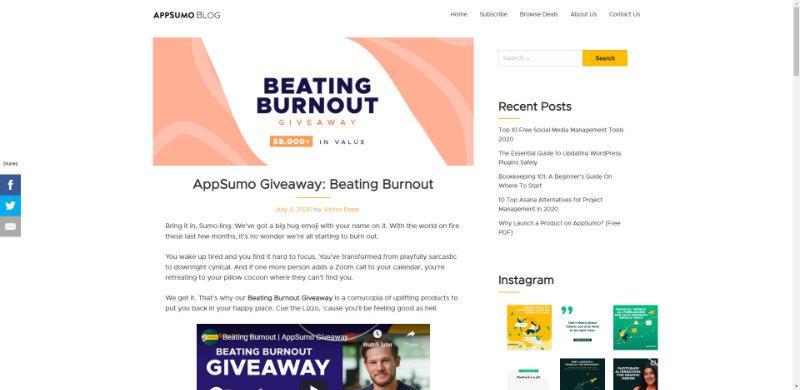 Appsumo giveaway