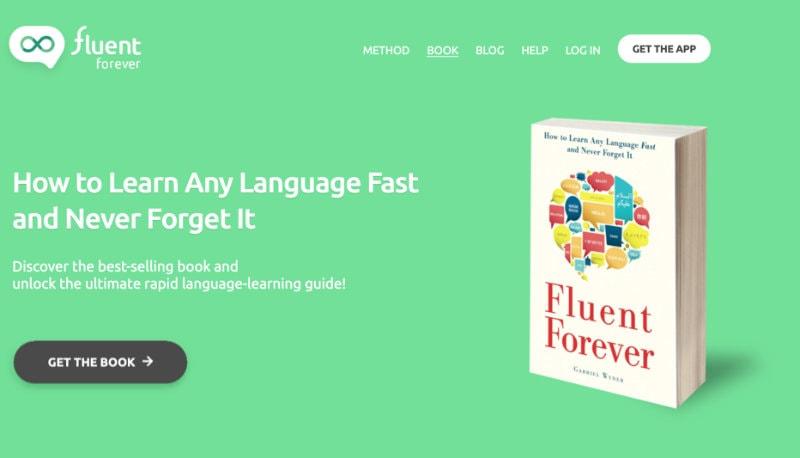 Ví dụ về sách fluent forever và app của nó