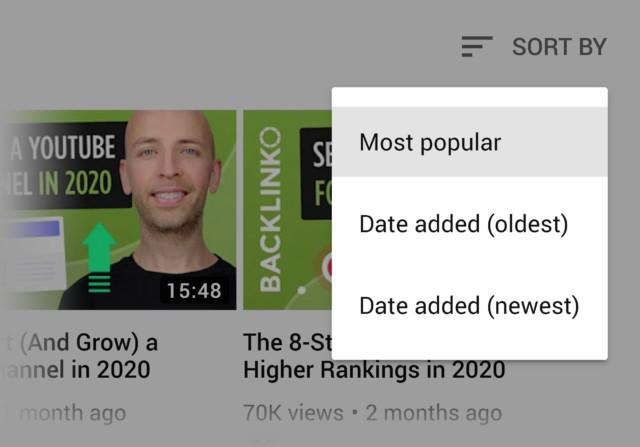 Lọc video phổ biến nhất