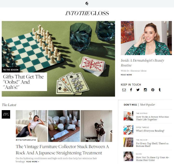 into the gloss blog
