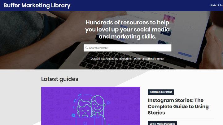 Thư viện marketing của Buffer