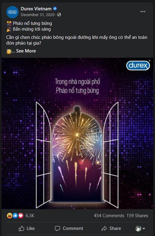 Durex việt nam post facebook