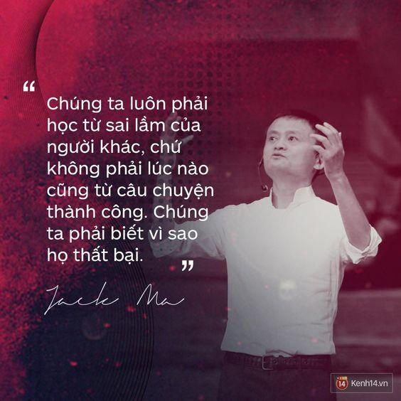 Câu trích dẫn trên Facebook của Jack Ma