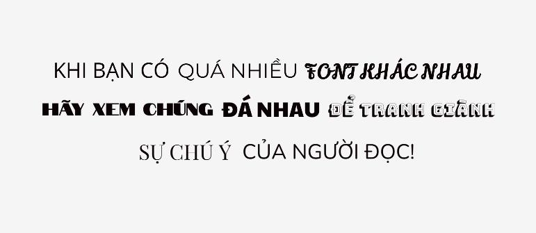 Quá nhiều font chữ khác nhau