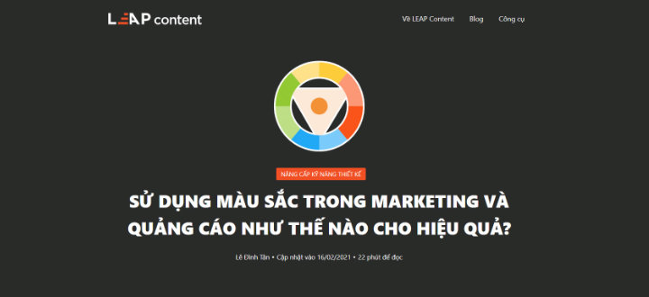 Bài viết sử dụng màu sắc trong marketing và quảng cáo thế nào?