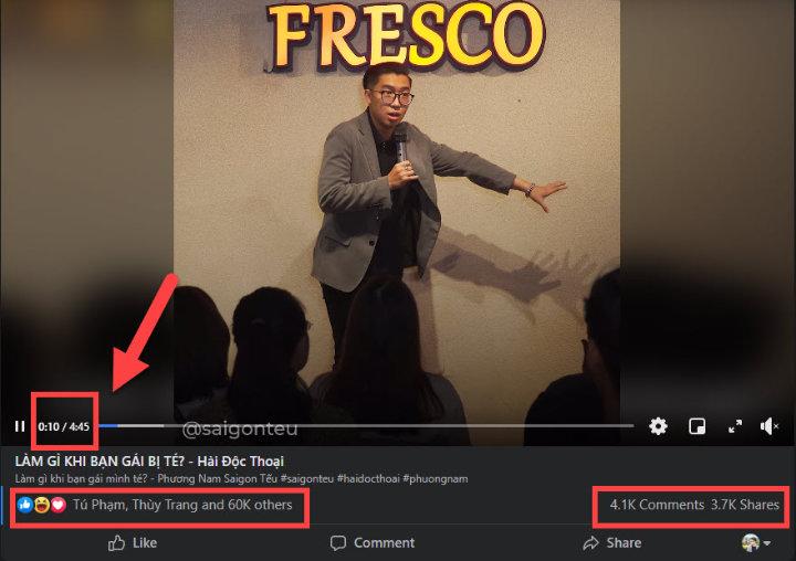 Video Facebook của Sài Gòn Tếu