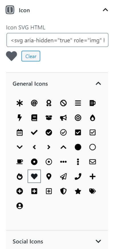 Sử dụng icon SVG trong GenerateBlocks