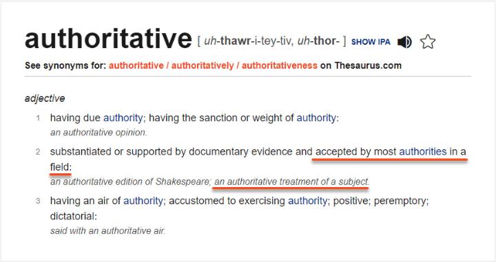 định nghĩa authoritative