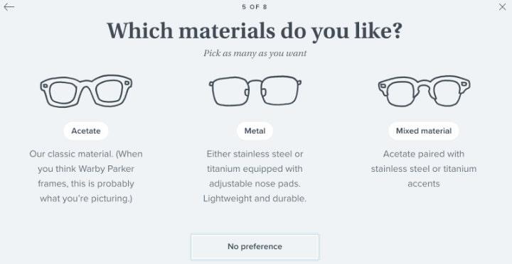 Warby Parker cho phép khách hàng thử ngay tại nhà sản phẩm mình đã lựa chọn