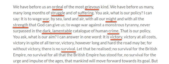 bài phát biểu của thủ tướng Winston Churchill