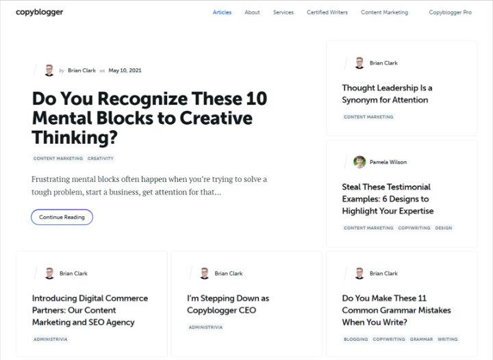 copyblogger website