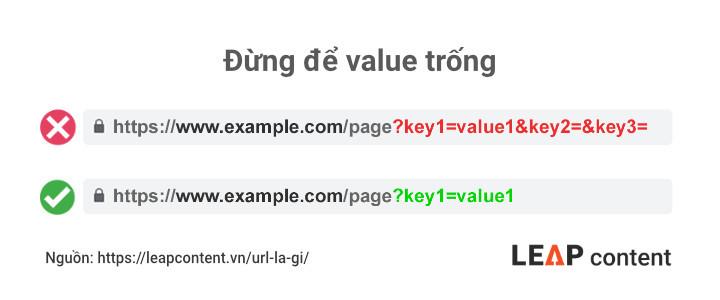 Đừng để value trống