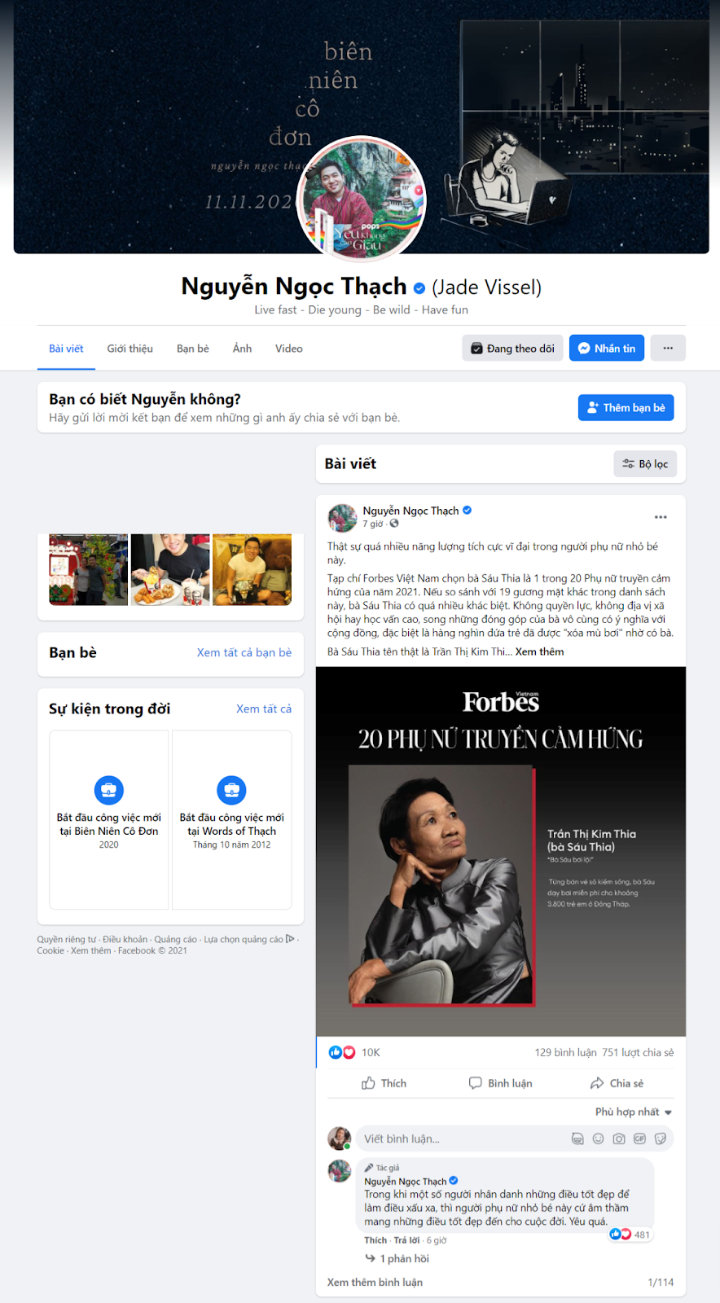Facebook Nguyễn Ngọc Thạch