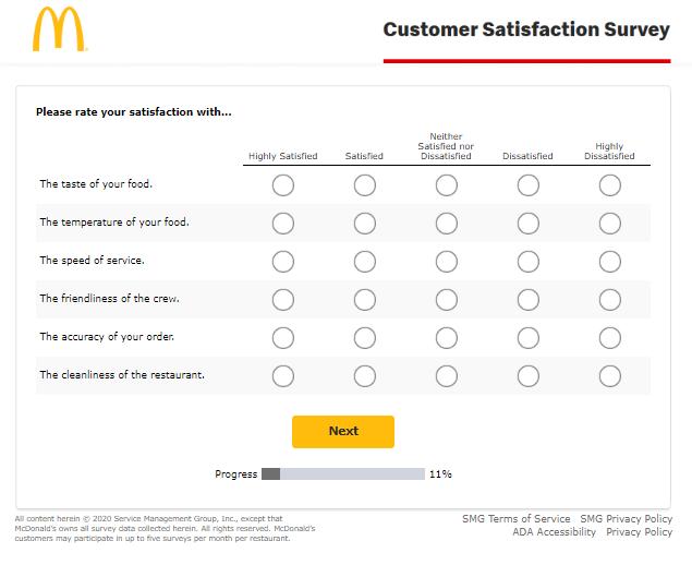 khảo sát hài lòng khách hàng của mcdonald