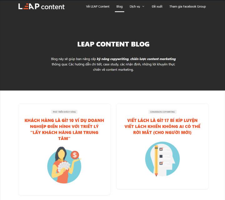 leap content blog