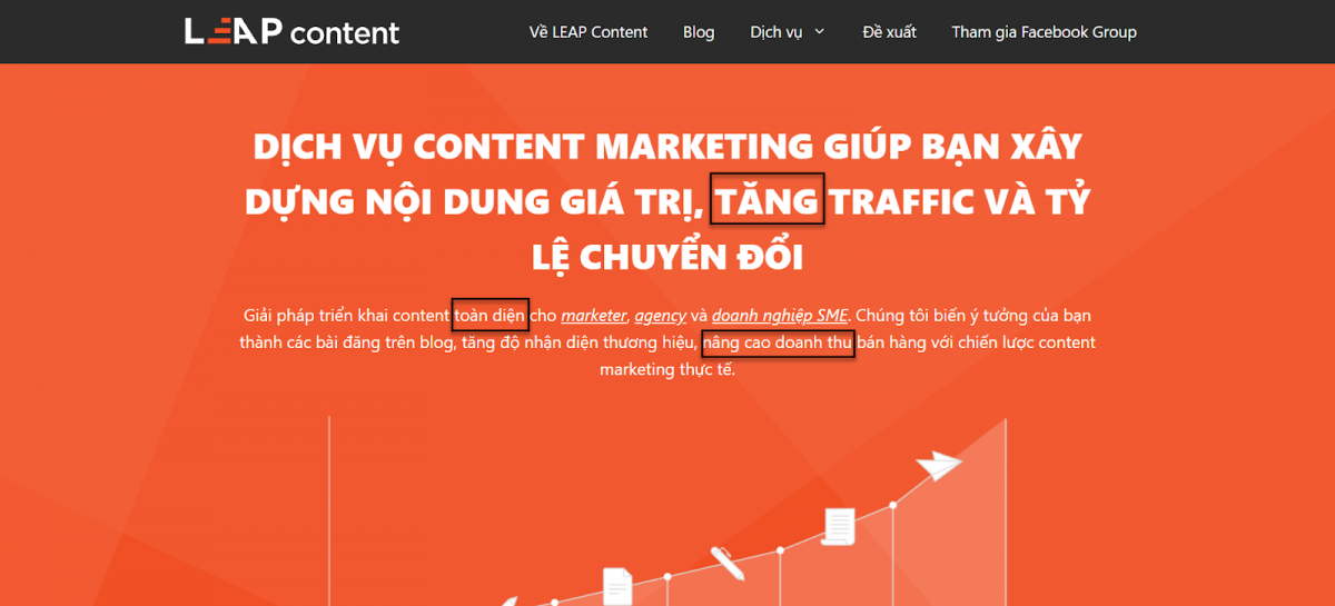 homepage example leap content