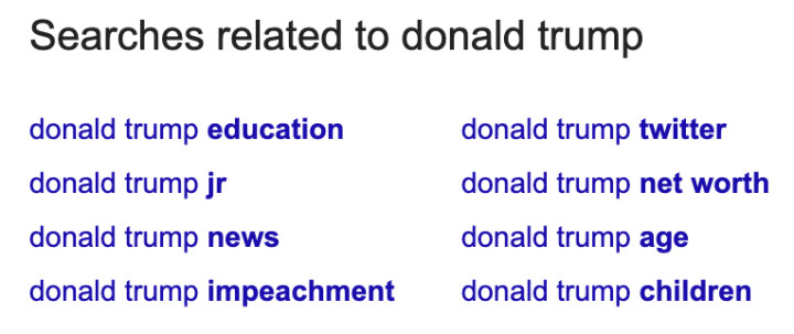 search related to từ khóa donald trump